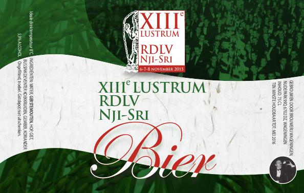 Nji-Sri Lustrum Bier etiket