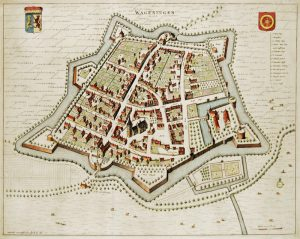 Historic map of the city Wageningen