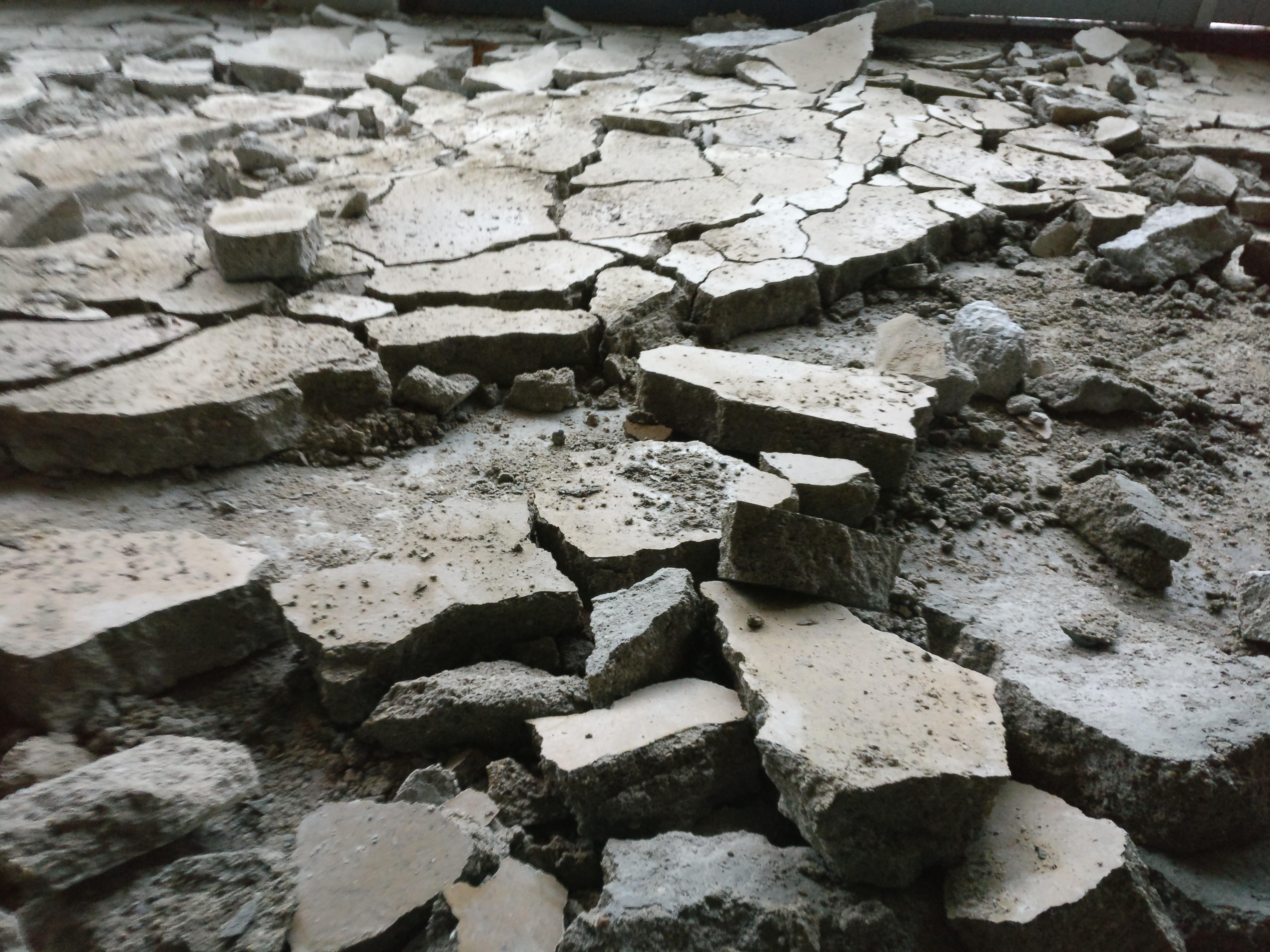 Super Cement dekvloer verwijderen   Stadsbrouwerij Wageningen MW85